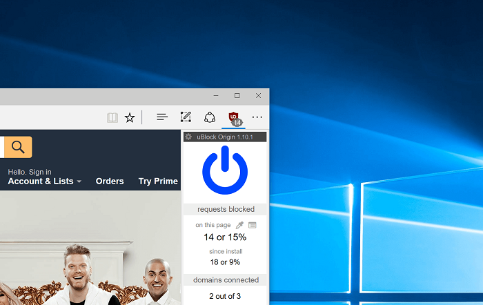 UBlock Origin comes to Microsoft Edge to improve its poor ecosystem of extensions