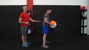 drilling using a medicine ball